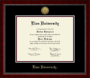 Elon University Diploma Frame - Gold Engraved Medallion Diploma Frame in Sutton