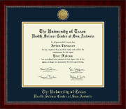 UT Health Science Center at San Antonio Diploma Frame - Gold Engraved Medallion Diploma Frame in Sutton