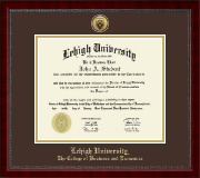 Lehigh University Diploma Frame - Gold Engraved Medallion Diploma Frame in Sutton