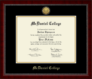 McDaniel College Diploma Frame - Gold Engraved Medallion Diploma Frame in Sutton
