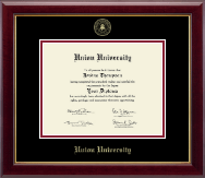 Union University Diploma Frame - Gold Embossed Diploma Frame in Gallery