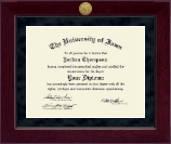 The University of Iowa Diploma Frame - Millennium Gold Engraved Diploma Frame in Cordova