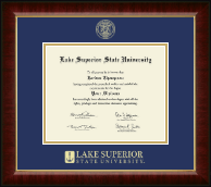 Lake Superior State University Diploma Frame - Gold Embossed Diploma Frame in Murano