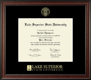 Lake Superior State University Diploma Frame - Gold Embossed Diploma Frame in Studio