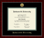 Jacksonville University Diploma Frame - Gold Engraved Medallion Diploma Frame in Sutton