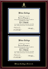 Blinn College Diploma Frame - Double Diploma Frame in Galleria
