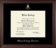 Blinn College Diploma Frame - Gold Embossed Diploma Frame in Studio