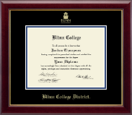 Blinn College Diploma Frame - Gold Embossed Diploma Frame in Gallery