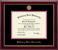 Pittsburg State University Diploma Frame - Masterpiece Medallion Diploma Frame in Gallery