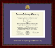 Tennessee Technological University Diploma Frame - Gold Engraved Medallion Diploma Frame in Sutton