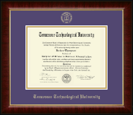 Tennessee Technological University Diploma Frame - Gold Embossed Diploma Frame in Murano