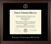 Tennessee Technological University Diploma Frame - Gold Embossed Diploma Frame in Studio