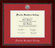 Florida Southern College Diploma Frame - Silver Engraved Medallion Diploma Frame in Sutton