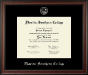 Florida Southern College Diploma Frame - Silver Embossed Diploma Frame in Studio