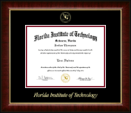 Florida Institute of Technology Diploma Frame - Gold Embossed Diploma Frame in Murano