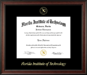 Florida Institute of Technology Diploma Frame - Gold Embossed Diploma Frame in Studio