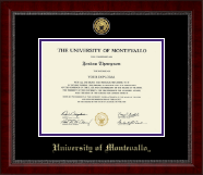 University of Montevallo Diploma Frame - Gold Engraved Medallion Diploma Frame in Sutton