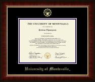 University of Montevallo Diploma Frame - Gold Embossed Diploma Frame in Murano