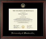 University of Montevallo Diploma Frame - Gold Embossed Diploma Frame in Studio