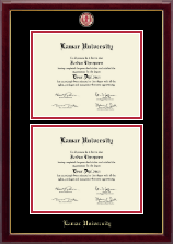 Lamar University Diploma Frame - Masterpiece Medallion Double Diploma Frame in Gallery