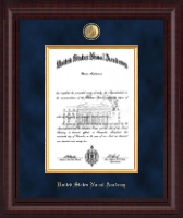 United States Naval Academy Diploma Frame - Presidential Masterpiece Diploma Frame in Premier