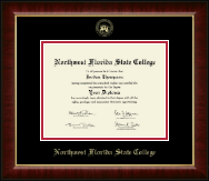 Northwest Florida State College Diploma Frame - Gold Embossed Diploma Frame in Murano