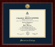 Moravian College Diploma Frame - Gold Engraved Medallion Diploma Frame in Sutton