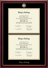 The King's College at Pennsylvania Diploma Frame - Masterpiece Medallion Double Diploma Frame in Gallery
