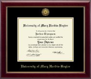 University of Mary Hardin Baylor Diploma Frame - Gold Engraved Medallion Diploma Frame in Gallery