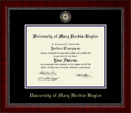 University of Mary Hardin Baylor Diploma Frame - Masterpiece Medallion Diploma Frame in Sutton