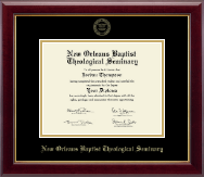New Orleans Baptist Theological Seminary Diploma Frame - Gold Embossed Diploma Frame in Gallery