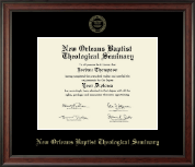 New Orleans Baptist Theological Seminary Diploma Frame - Gold Embossed Diploma Frame in Studio