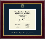 The Southern Baptist Theological Seminary Diploma Frame - Gold Embossed Diploma Frame in Gallery