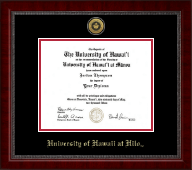 University of Hawaii at Hilo Diploma Frame - Gold Engraved Medallion Diploma Frame in Sutton