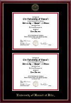 University of Hawaii at Hilo Diploma Frame - Double Diploma Frame in Galleria