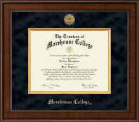 Morehouse College Diploma Frame - Presidential Gold Engraved Diploma Frame in Madison