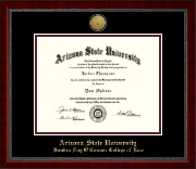 Arizona State University Diploma Frame - Gold Engraved Medallion Diploma Frame in Sutton