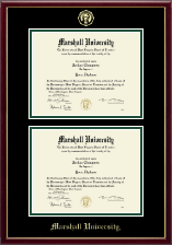 Marshall University Diploma Frame - Double Diploma Frame in Galleria