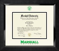 Marshall University Diploma Frame - Dimensions Diploma Frame in Eclipse