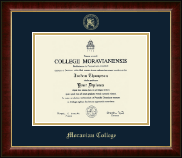 Moravian College Diploma Frame - Gold Embossed Diploma Frame in Murano