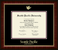 Seattle Pacific University Diploma Frame - Gold Embossed Diploma Frame in Murano