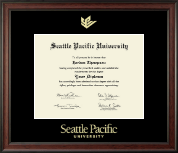 Seattle Pacific University Diploma Frame - Gold Embossed Diploma Frame in Studio