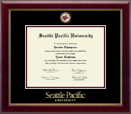 Seattle Pacific University Diploma Frame - Masterpiece Medallion Diploma Frame in Gallery