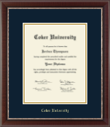 Coker University Diploma Frame - Gold Embossed Diploma Frame in Chateau