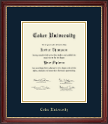 Coker University Diploma Frame - Gold Embossed Diploma Frame in Kensington Gold