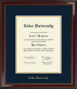 Coker University Diploma Frame - Gold Embossed Diploma Frame in Encore