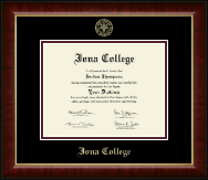 Iona College Diploma Frame - Gold Embossed Diploma Frame in Murano