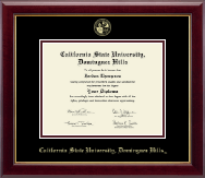 California State University Dominguez Hills Diploma Frame - Gold Embossed Diploma Frame in Gallery