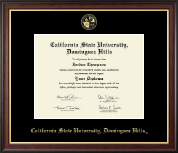 California State University Dominguez Hills Diploma Frame - Gold Embossed Diploma Frame in Studio Gold