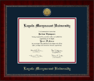 Loyola Marymount University Diploma Frame - Gold Engraved Medallion Diploma Frame in Sutton